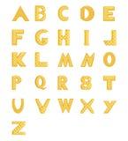 字母表金子 库存图片