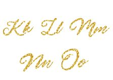 字母表金黄向量 免版税库存照片