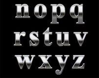 字母表镀铬物信函 库存图片