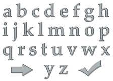 字母表镀铬物塑料白金 向量例证