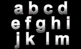 字母表镀铬物 图库摄影
