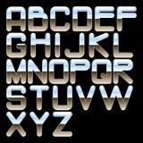 字母表镀铬物 免版税图库摄影