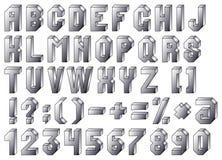 字母表阻拦钢 库存照片