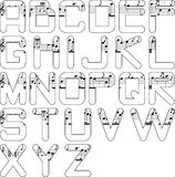 字母表音乐 免版税图库摄影