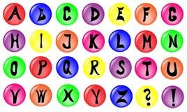 字母表颜色 库存图片