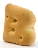 字母表饼干形状 库存图片