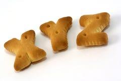 字母表饼干形状 图库摄影