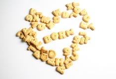 字母表饼干 免版税库存图片