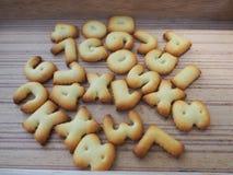 字母表饼干 库存照片