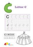 字母表马戏 库存图片
