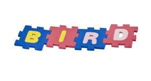 字母表鸟 库存照片