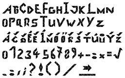 字母表-六个组分的信件 库存照片