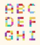 字母表阻拦颜色样式集合 库存图片