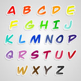字母表贴纸字体 库存图片