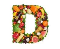字母表d健康 库存图片