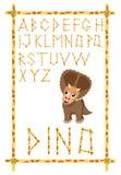 字母表dino 皇族释放例证