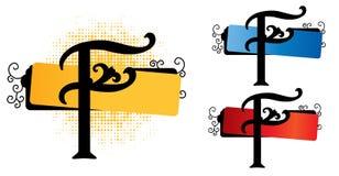 字母表f向量 免版税图库摄影