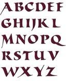 字母表gepard lila 免版税库存照片