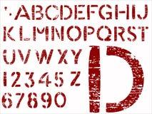 字母表grunge信函 库存图片