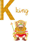 字母表k 皇族释放例证