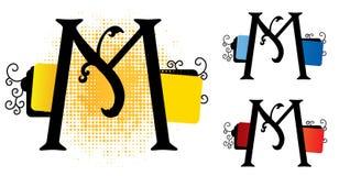 字母表m向量 免版税库存照片