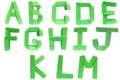 字母表origami 库存例证