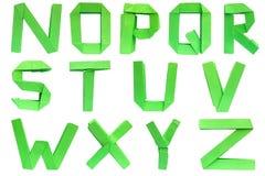 字母表origami 皇族释放例证