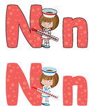 字母N护士 免版税库存照片