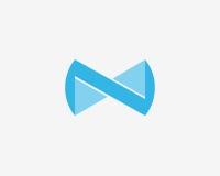 字母N象字母表标志 字母N商标象设计标志 免版税库存图片