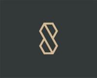 字母S商标线设计摘要 免版税库存图片