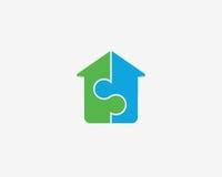 字母S象字母表标志 社会建筑房子传染媒介商标象 免版税库存照片