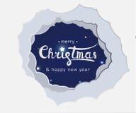 字法圣诞快乐和新年快乐 皇族释放例证