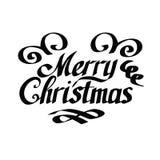 字法圣诞快乐 库存例证