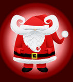 字符克劳斯滑稽的圣诞老人 库存图片