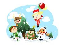 字符圣诞节孩子 库存照片