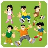 字符快乐的孩子 免版税库存照片