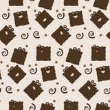 字符曲奇饼无缝的瓦片 免版税库存照片