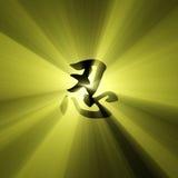 字符火光光ninja ren符号 库存照片
