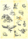 字符神仙的魔术传说 库存图片