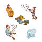 字符童话集 免版税库存图片