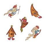 字符逗人喜爱的童话集 免版税库存照片