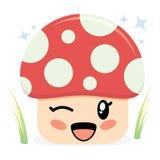 字符逗人喜爱的蘑菇 库存图片
