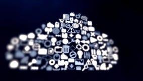 存储信息在云彩 影视素材