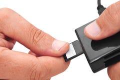 存储卡和读者 免版税库存照片