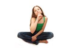 存储年轻人的女孩秘密 免版税图库摄影