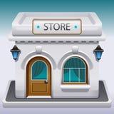存储或咖啡馆的图标 库存照片
