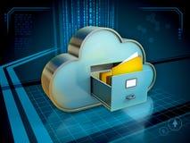 存储文件在云彩 库存图片