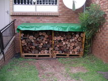 存储木头 库存照片