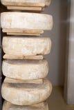存储的干酪 库存图片