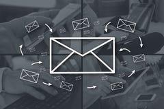 存取按钮概念电子邮件快 免版税图库摄影